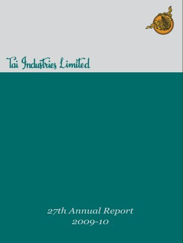 Annual Report 2010 - tai industries