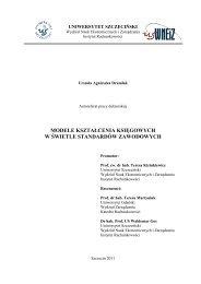 Drumlak Urszula autoreferat pracy doktorskiej - Wydział Nauk ...