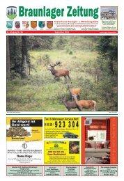 Kostenloses Anzeigen- u. Mitteilungsblatt - Braunlager Zeitung
