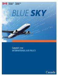 Blue Sky: Canada's International Air Policy - Transports Canada