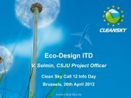 Eco-Design - Clean Sky