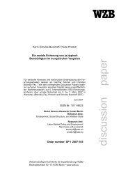 Die soziale Sicherung von - Bibliothek - WZB