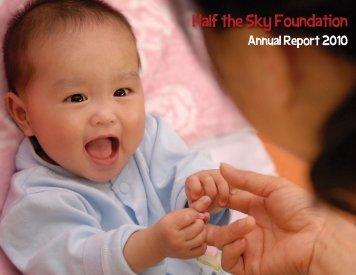 2010 Annual Report - Half the Sky