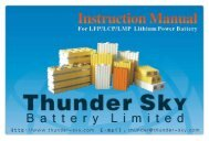 ThunderSky Series Manual