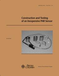 Construction and Testing of an Inexpensive PAR Sensor - CiteSeerX