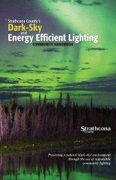 Dark-Sky Energy Efficient Lighting - Strathcona County
