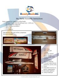Sky Surfer Assembly Instructions - Ready Made RC LLC