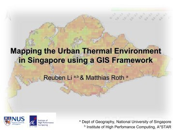 Mapping the Urban Thermal Environment in Singapore using a GIS ...
