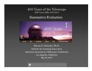 400 Years of the Telescope Summative Evaluation