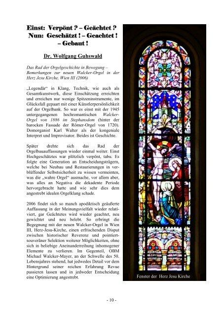 Die neue Orgel - Michael Walcker-Mayer