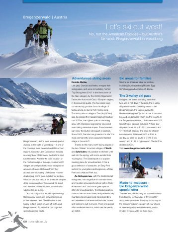 Download bregenzerwald's article now - Ski Club of Great Britain