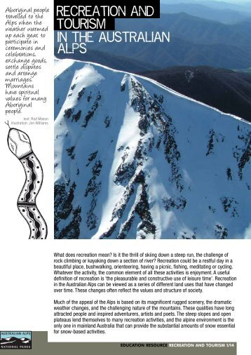 Recreation and tourism in the Australian Alps