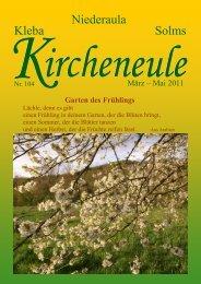 Gemeindebrief Niederaula März bis Mai 2011 - Evangelische Kirche ...