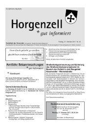 Ausgabe vom 21. Oktober 2011 - Horgenzell