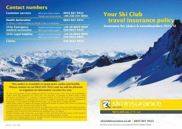 to download (pdf -282kb) - Ski Club Insurance