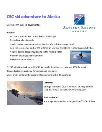 Alaska Flyer.pub - Connecticut Ski Council and Ski Clubs