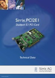 Sirrix.PCI2E1 - Sirrix AG security technologies