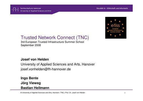 Trusted Network Connect Tnc Trust Fhh Group
