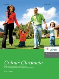 Colour Chronicle - Oct 2009 - Clariant