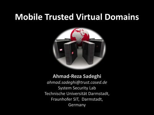 Mobile Trusted Virtual Domains