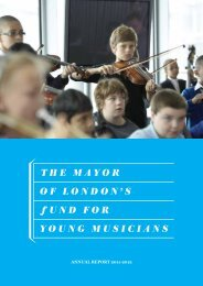 Annual Report 2011-12 - The Mayor of London's Fund for Young ...