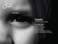 Tippett: A Child of Our Time - London Symphony Orchestra