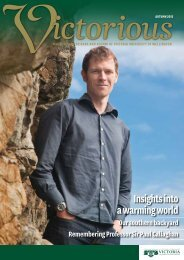 Insights into a warming world - Victoria University of Wellington