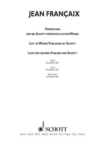 Werkverzeichnis als PDF herunterladen (ca. 1 MB) - Schott Music