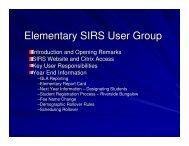 SIRS Powerpoint Presentation - June 2007