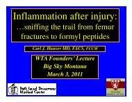 Inflammation after injury: - Western Trauma Association