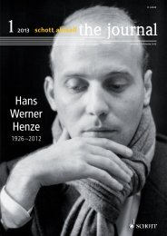 Download this issue as PDF - Schott Music