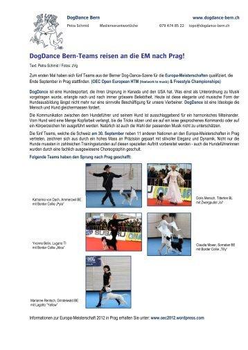 DogDance Medienmitteilung - DogDance Bern