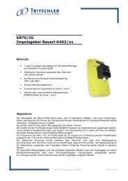 K870/IG Impulsgeber Bauart K402/xx - FTL Tritschler Elektronik+ ...