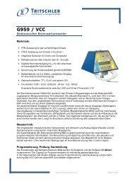 Produktinfo (230 kB) - FTL Tritschler Elektronik+Feingerätebau