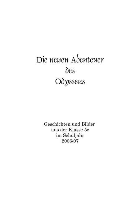 Die neuen Abenteuer des Odysseus - Kunstschule-digital.de