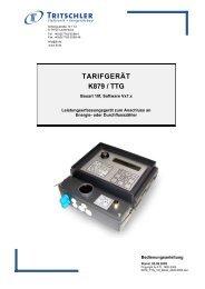 Bedienungsanleitung für Firmware Vx7.x - FTL Tritschler Elektronik+ ...