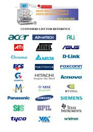 CUSTOMERS LIST FOR REFERENCE - Sinerji Grup