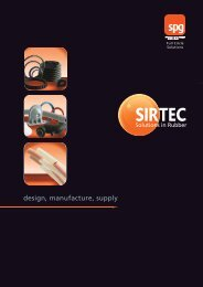 Sirtec 8pp broadsheet - Seals Packing and Gaskets by SPG an ERIKS