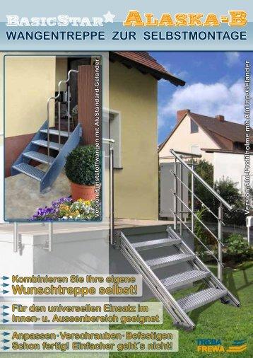 Außenwangentreppe Alaska-B - Treba Bausysteme GmbH