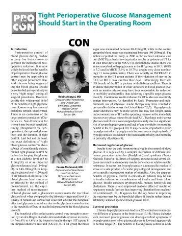 CON: Robina Matyal, MD & Feroze Mahmood, MD
