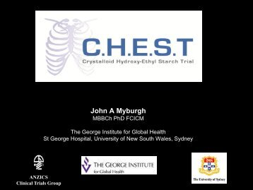 The CHEST Trial - Critical Care Canada Forum