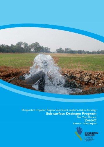 Sub-surface Drainage Program - Goulburn-Murray Water