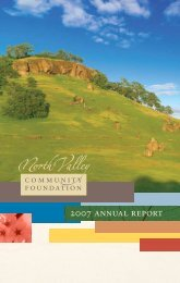 2007 annual report - North Valley Community Foundation