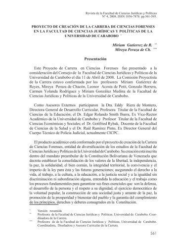 Revista de la Faculta Ciencias Juridicas_No4.indd - Universidad de ...