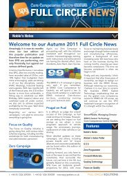 Autumn/Winter 2011 Newsletter - Seals Packings and Gaskets