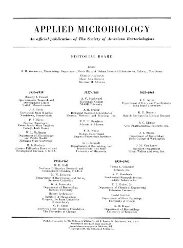 Archive of Applied Microbiology