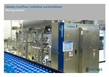krones Contiflow, Carboflow and Multiblend Mixing ... - Krones AG