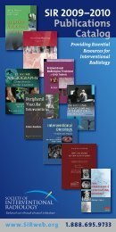 SIR 2009–2010 Publications Catalog - Society Of Interventional ...