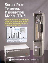 SIS TD-5 Short Path Thermal Desorption System - Scientific ...