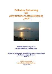 Palliative Betreuung bei Amyotropher Lateralsklerose